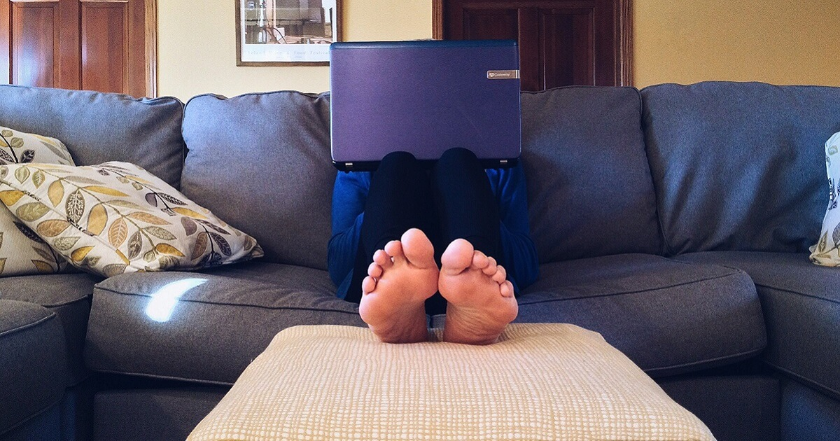 Working from home back pain blog Title Media www.titlemedia.co.uk